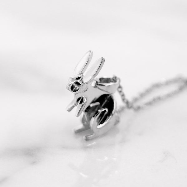 Da Rabbit Pendant - White Gold