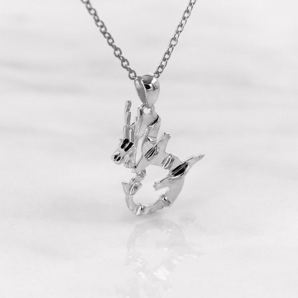 Da Dragon Pendant - White Gold