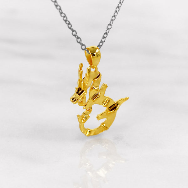 Da Dragon Pendant - Yellow Gold