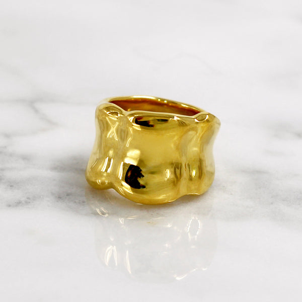 Da Bone Ring (Index Finger) - Yellow Gold