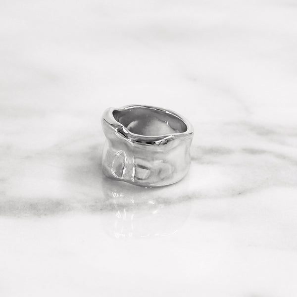 Da Bone Ring (Middle Finger) - White Gold