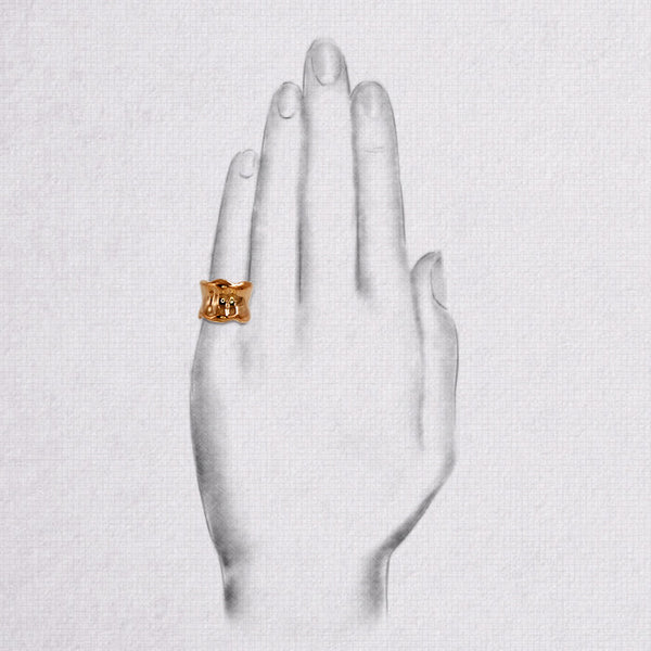 Da Bone Ring (Pinky) - Rose Gold
