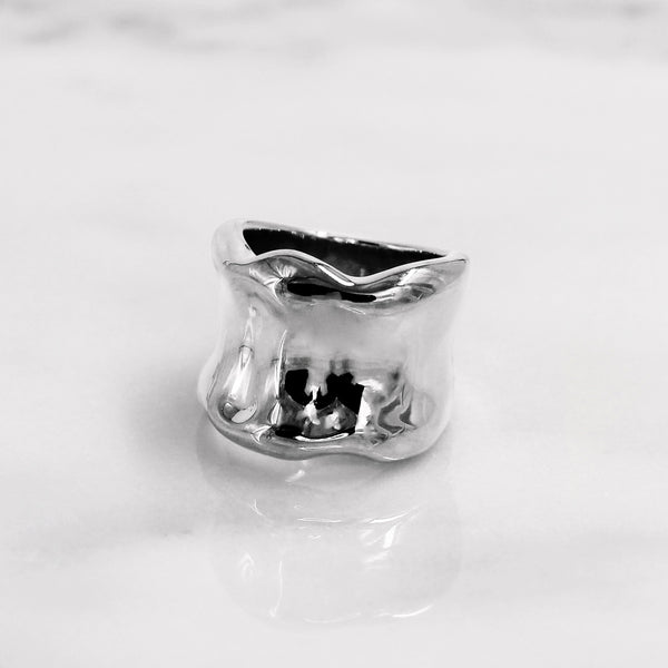 Da Bone Ring (Pinky) - White Gold
