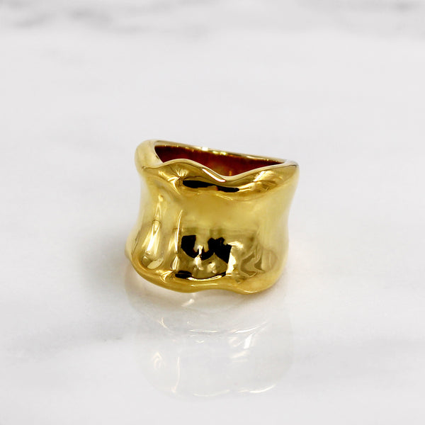 Da Bone Ring (Pinky) - Yellow Gold