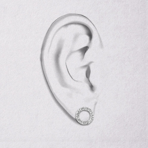 Da Carved Earring - White Gold