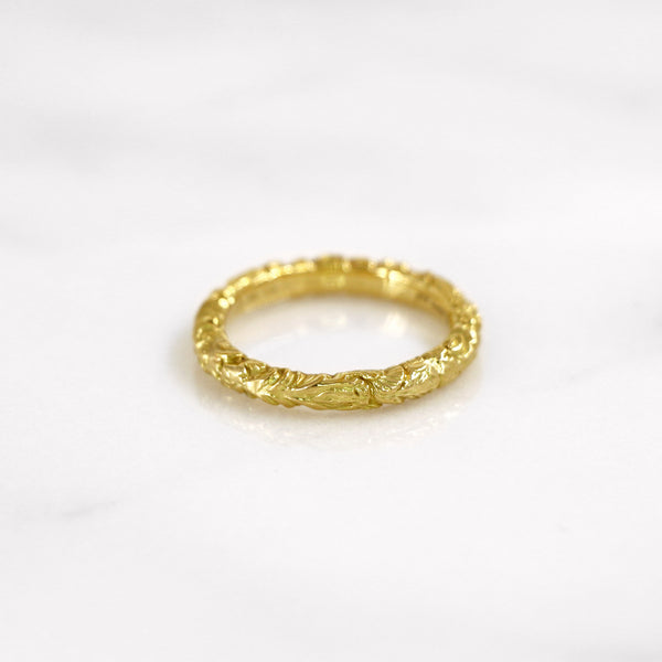 Da Carved Ring - Yellow Gold