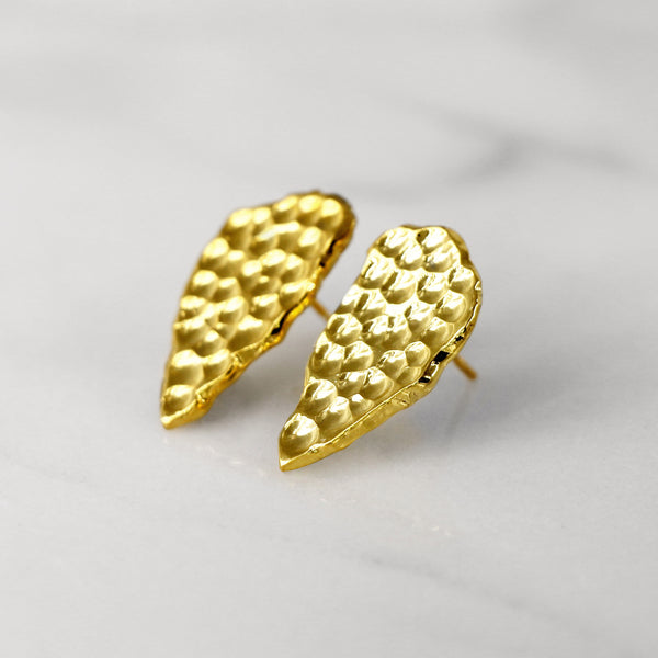 Da Cliff Earring (Raw) - Yellow Gold
