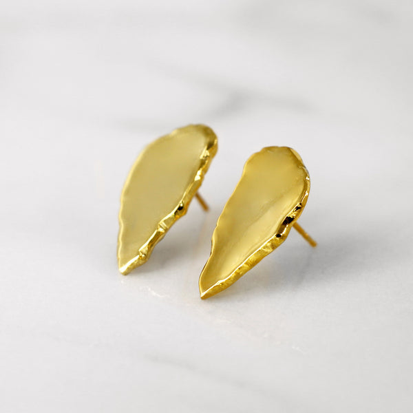 Da Cliff Earring (Mirror) - Yellow Gold