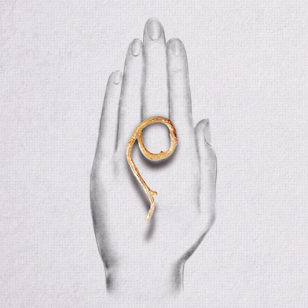 Da Dancing Twig Ring - Rose Gold