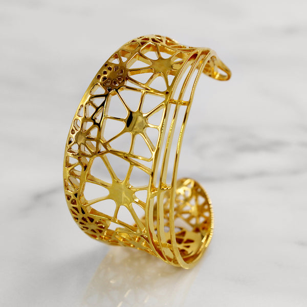 Da Dragonfly Bangle - Yellow Gold