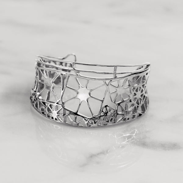 Da Dragonfly Bangle - White Gold
