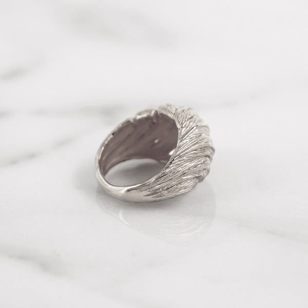 Da Feather Torus Ring - 925 Sterling Silver