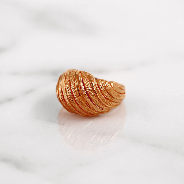 Da Feather Torus Ring - Rose Gold