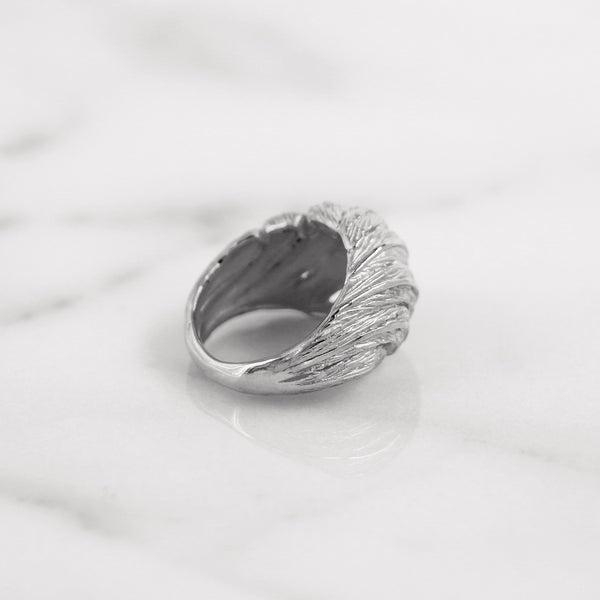 Da Feather Torus Ring - White Gold