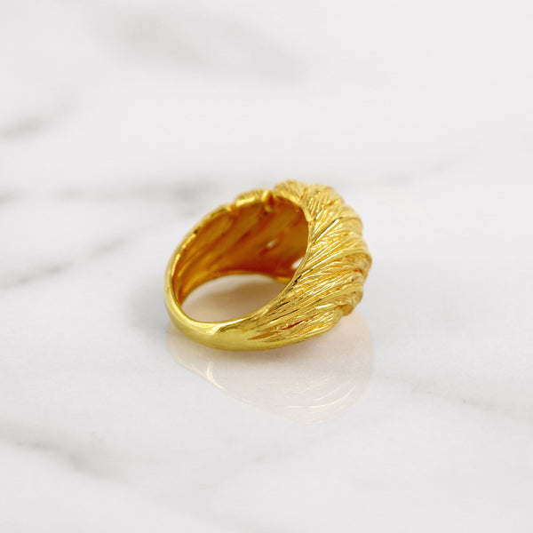 Da Feather Torus Ring - Yellow Gold