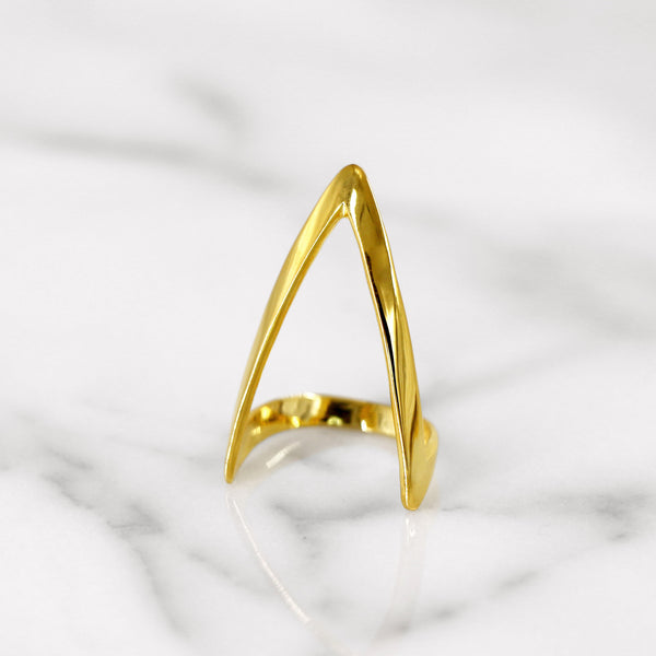 Da Knuckle Ring Large - Yellow Gold