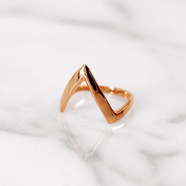 Da Knuckle Ring Small - Rose Gold