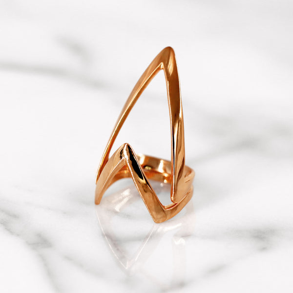Da Knuckle Ring Large - Rose Gold