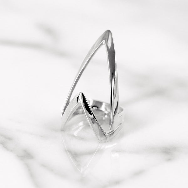 Da Knuckle Ring Large - White Gold