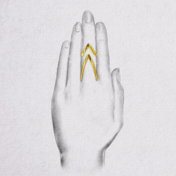 Da Knuckle Ring Set - Yellow Gold
