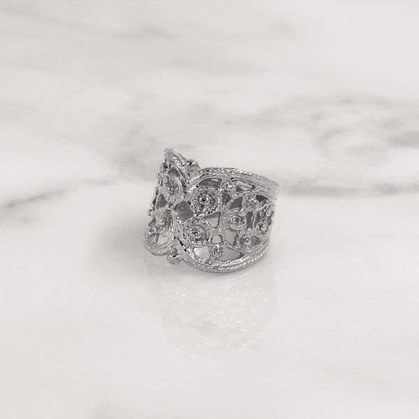 Da Lace Ring - White Gold