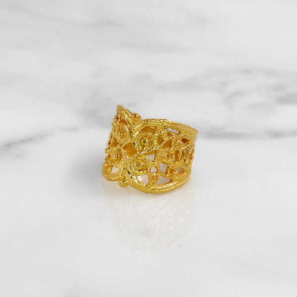 Da Lace Ring - Yellow Gold
