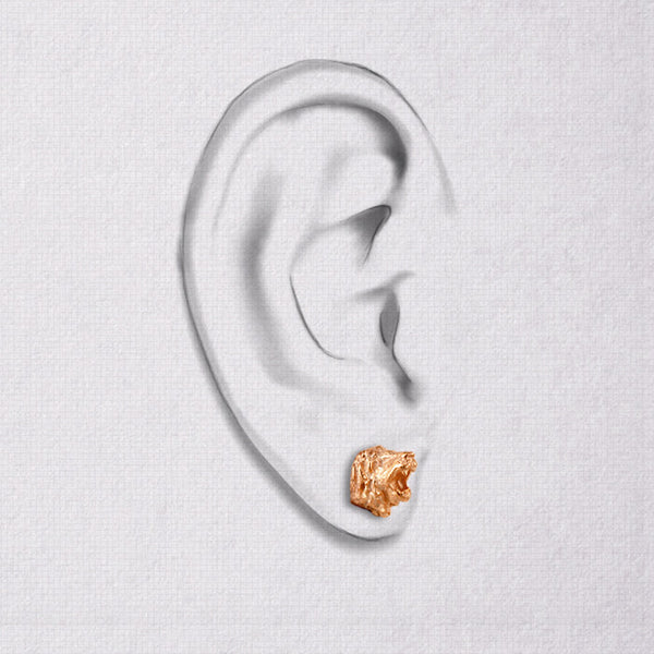 Da Lion Earring - Rose Gold