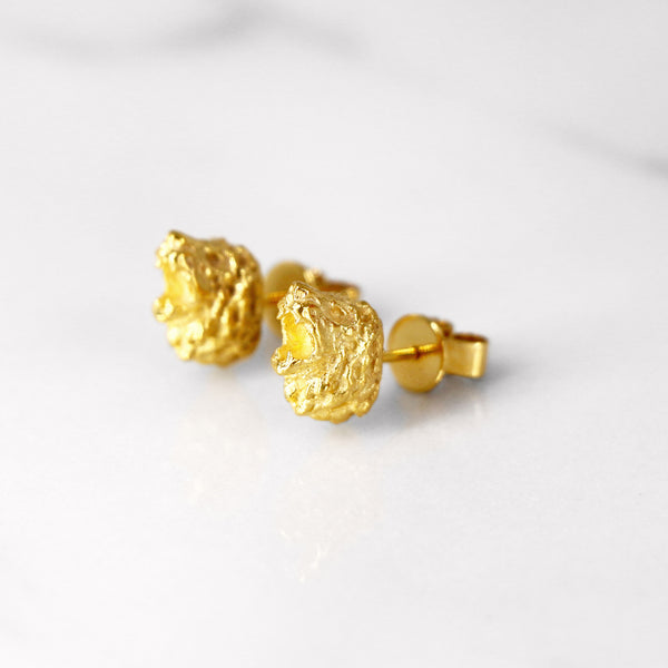 Da Lion Earring - Yellow Gold
