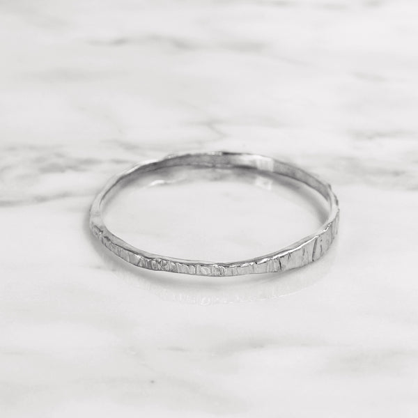 Da Mountain Bangle - White Gold