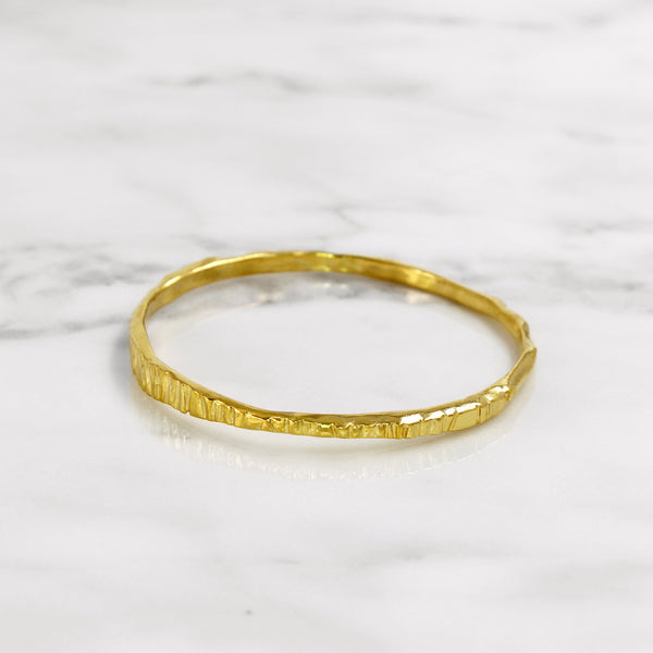 Da Mountain Bangle - Yellow Gold