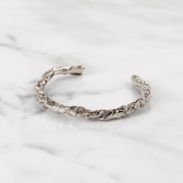 Statement sterling silver paper bangle gift present
