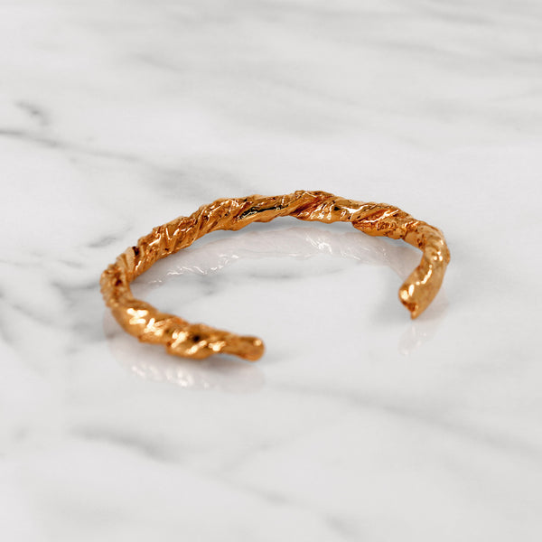 Statement rose gold paper bangle