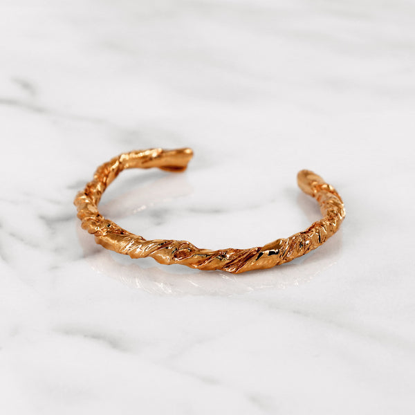Statement rose gold paper bangle gift present 18K 14K