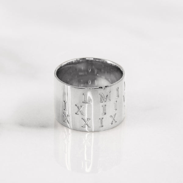 Da Puzzle Ring Set (CUSTOM DATE) - White Gold