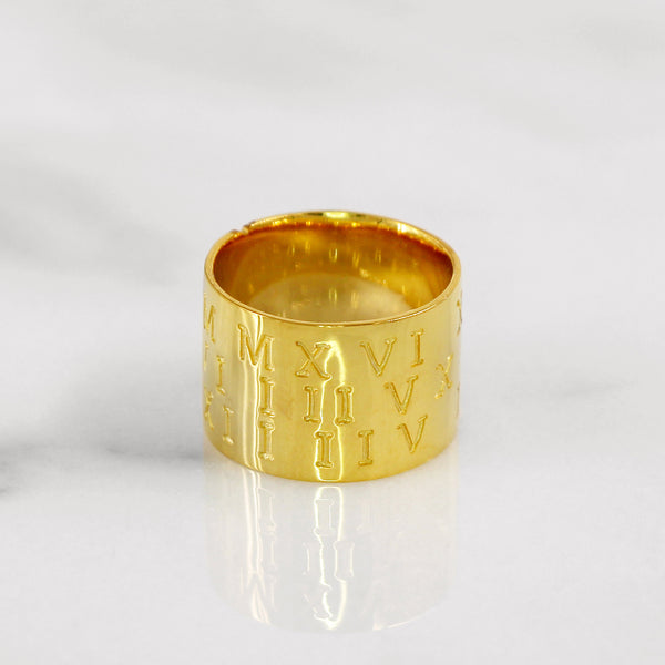 Da Puzzle Ring Set (CUSTOM DATE) - Yellow Gold