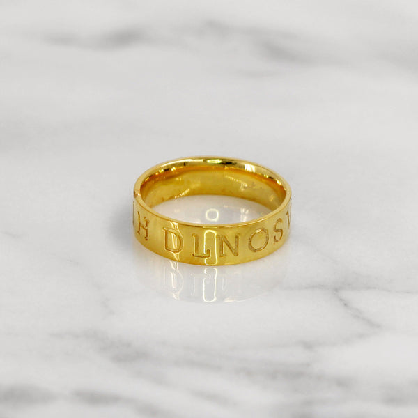 Da Puzzle Ring Set (I LOVE YOU) - Yellow Gold