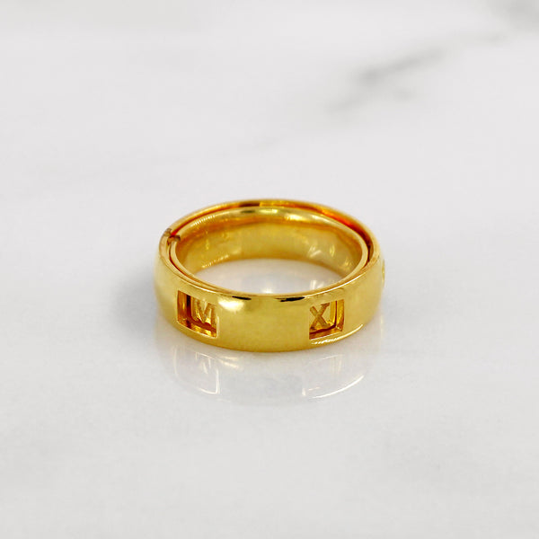 Da Puzzle Ring Set (CUSTOM YEAR) - Yellow Gold