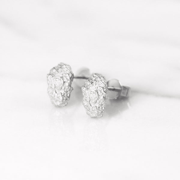 Da Rock Earring Medium - White Gold