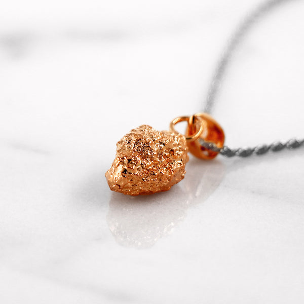 Da Rock Heart Pendant - Rose Gold