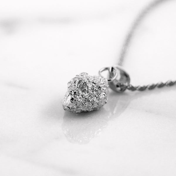 Da Rock Heart Pendant - White Gold