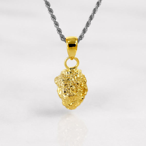 Da Rock Heart Pendant - Yellow Gold