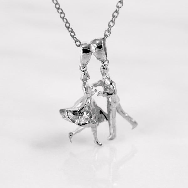 Da Dancing Man Pendant - White Gold