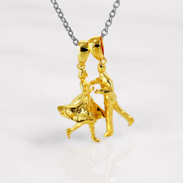 Da Dancing Lady Pendant - Yellow Gold