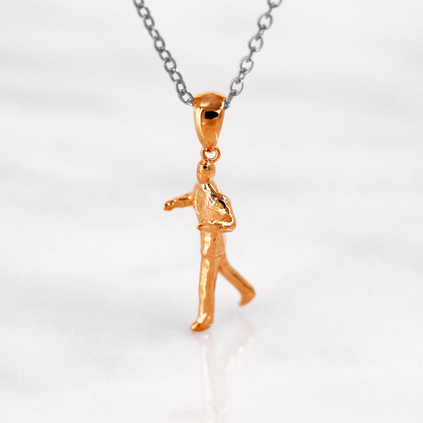 Da Dancing Man Pendant - Rose Gold