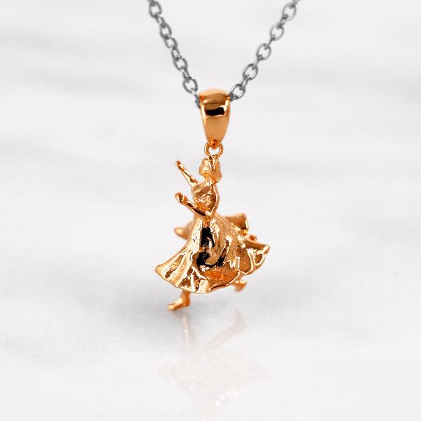 Da Dancing Lady Pendant - Rose Gold