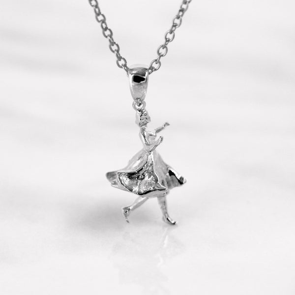 Da Dancing Lady Pendant - White Gold