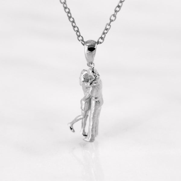 Da Loving Couple Pendant - White Gold