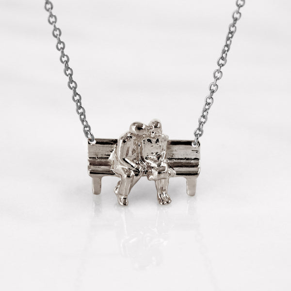 Da Sitting Couple Pendant - 925 Sterling Silver