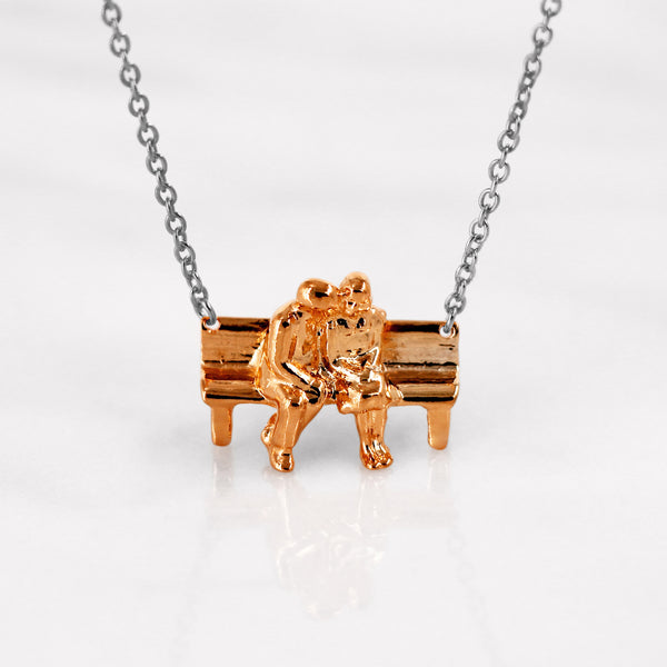 Da Sitting Couple Pendant - Rose Gold