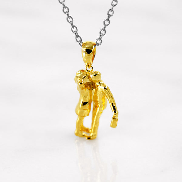 Da Before Work Pendant - Yellow Gold